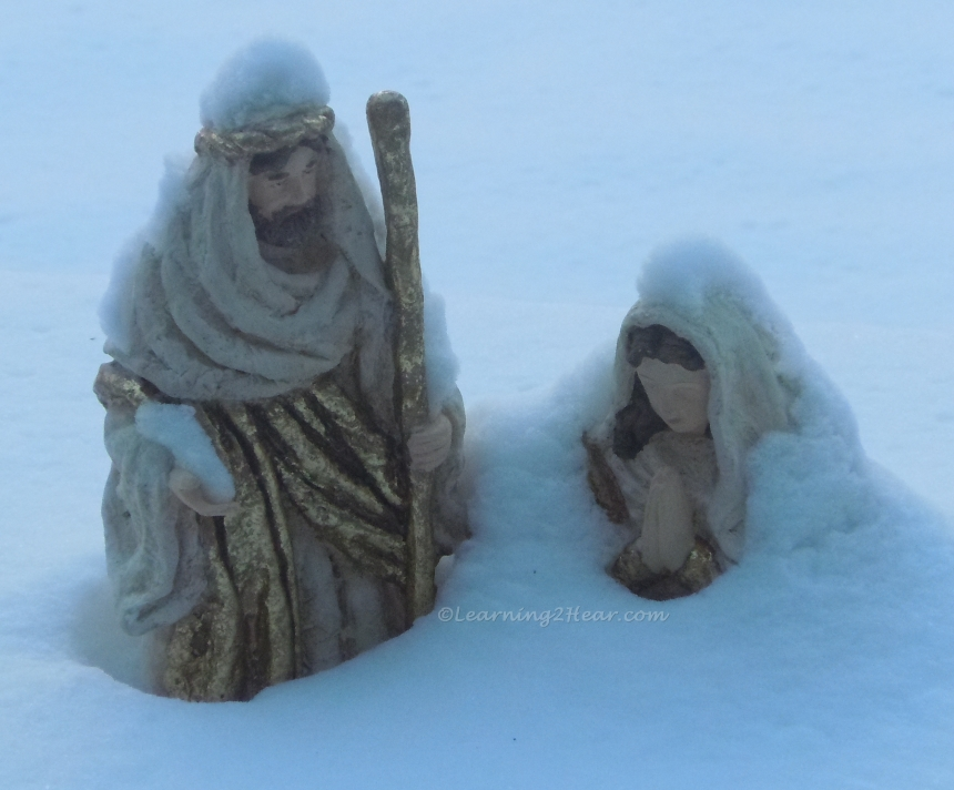 Snow Covered Baby Jesus
