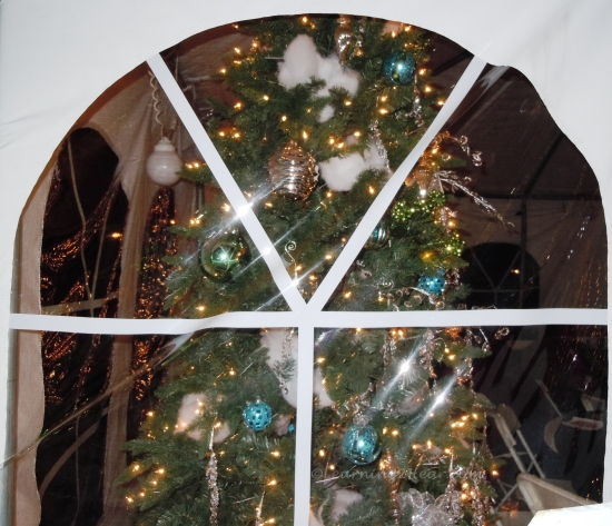 Christmas Tent Window